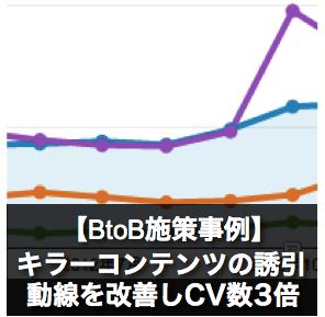 キラーコンテンツの誘引動線を改善しCV数3倍【BtoB施策事例】