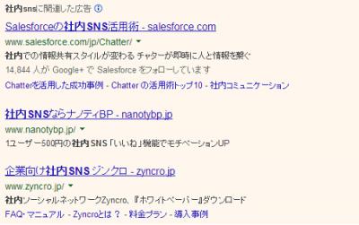 リスティング-社内SNS
