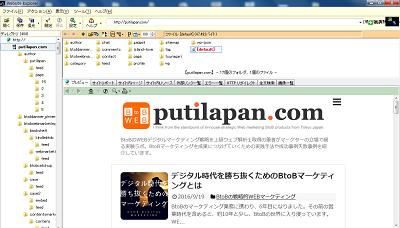 website explorerの実行結果画面