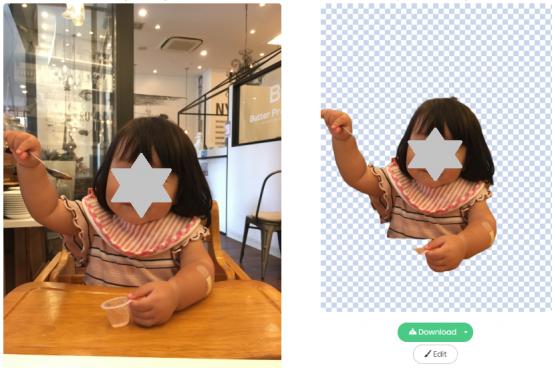 Remove.bgの写真画像から人物の背景を切り抜いたサンプル10