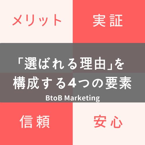 【保存版】BtoBで「選ばれる理由」を構成する4つの要素とBtoBマーケティングでの訴求例