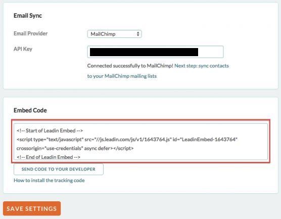 Leadin_サイト設定コード